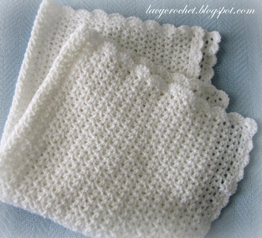 Lacy Baby Blanket Crochet Pattern Luxury Lacy Crochet V Stitch Baby Afghan with Scalloped Trim Of New 40 Images Lacy Baby Blanket Crochet Pattern