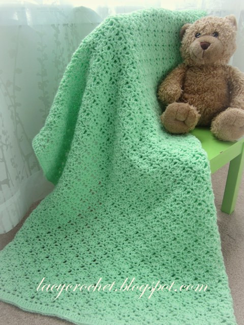 Lacy Baby Blanket Crochet Pattern Unique Lacy Crochet Crochet Green Baby Blanket Free Pattern Of New 40 Images Lacy Baby Blanket Crochet Pattern