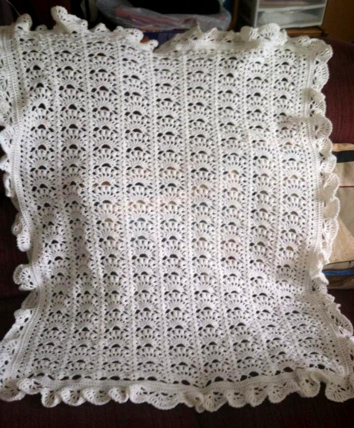 Lacy Crochet Baby Blanket Awesome Lacy Crochet Border for Fancy Shells Baby Afghan Of Top 48 Ideas Lacy Crochet Baby Blanket
