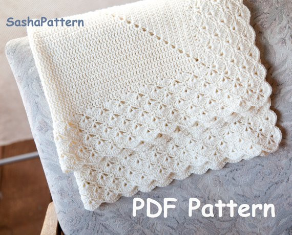 Lacy Crochet Baby Blanket Beautiful Crochet Baby Blanket with Lacy Border Pattern – Square Of Top 48 Ideas Lacy Crochet Baby Blanket