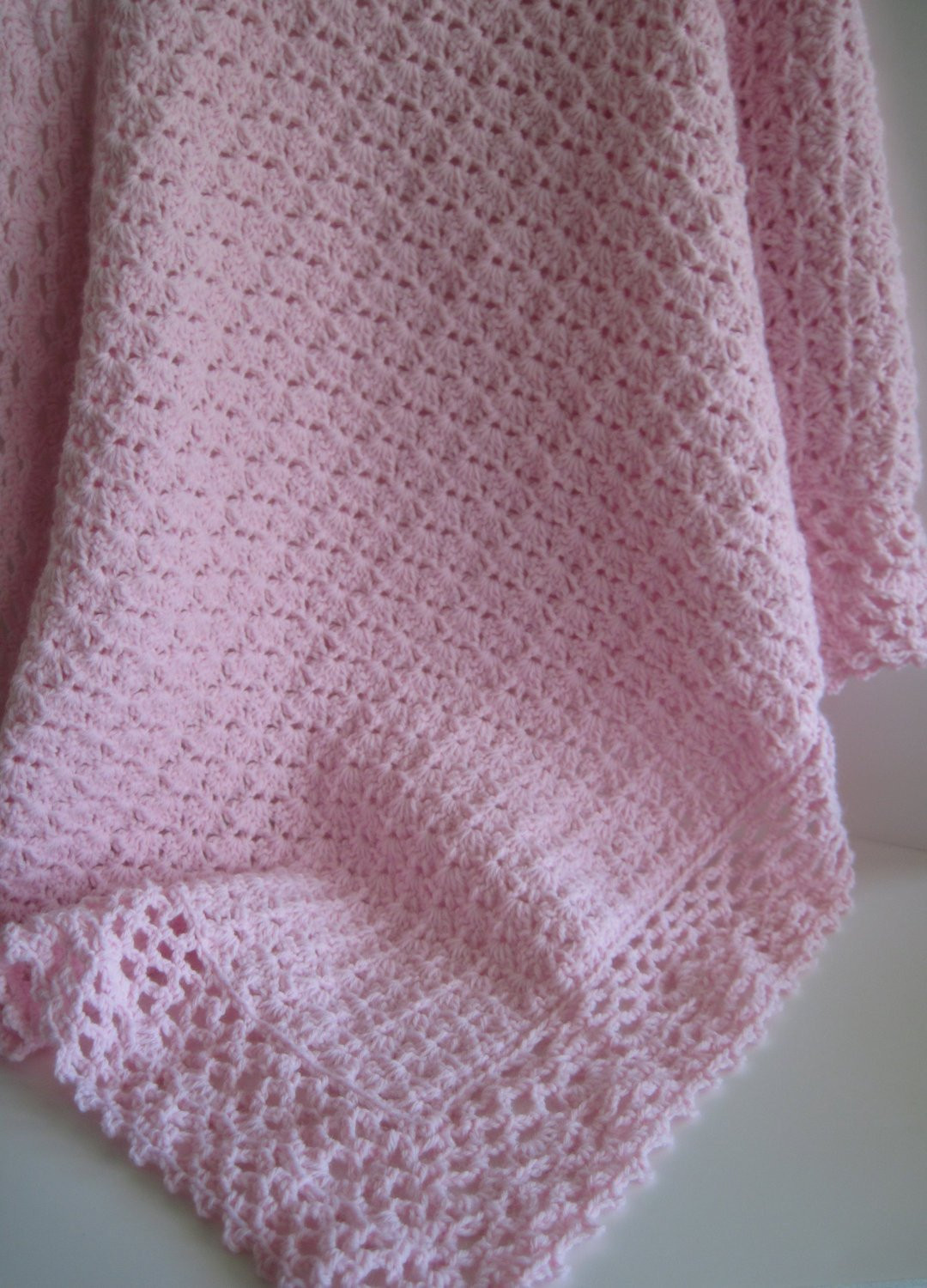 Lacy Crochet Baby Blanket Beautiful Pink Crochet Baby Blanket Afghan with Lacy Edging Of Top 48 Ideas Lacy Crochet Baby Blanket