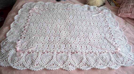 Lacy Crochet Baby Blanket Lovely White Lace Crocheted Baby Blanket Afghan Perfect for the Of Top 48 Ideas Lacy Crochet Baby Blanket