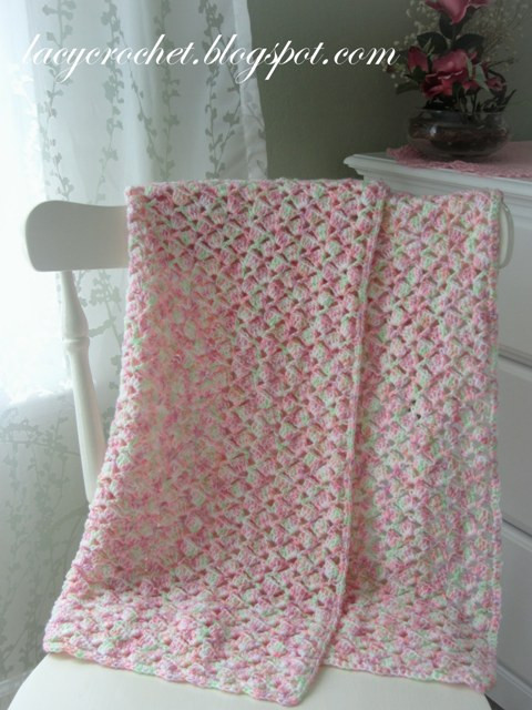 Lacy Crochet Baby Blanket Unique Lacy Crochet Summer Baby Blanket In Variegated Yarn Free Of Top 48 Ideas Lacy Crochet Baby Blanket