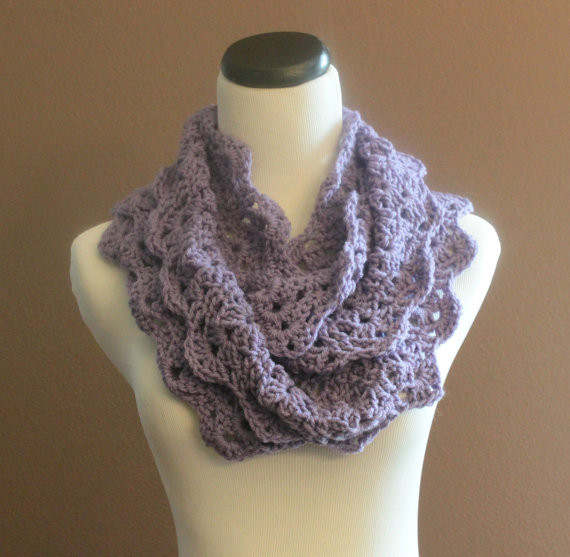 Lacy Crochet Scarf Best Of Chunky Crochet Infinity Scarf Lace Thick Cowl Neckwarmer Of Perfect 44 Ideas Lacy Crochet Scarf