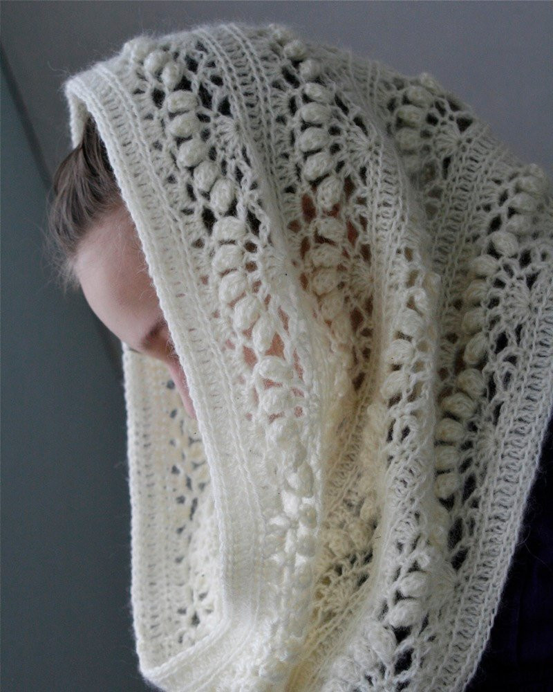Lacy Crochet Scarf New Crochet White Mohair Oversized Cowl Iris Pdf Of Perfect 44 Ideas Lacy Crochet Scarf