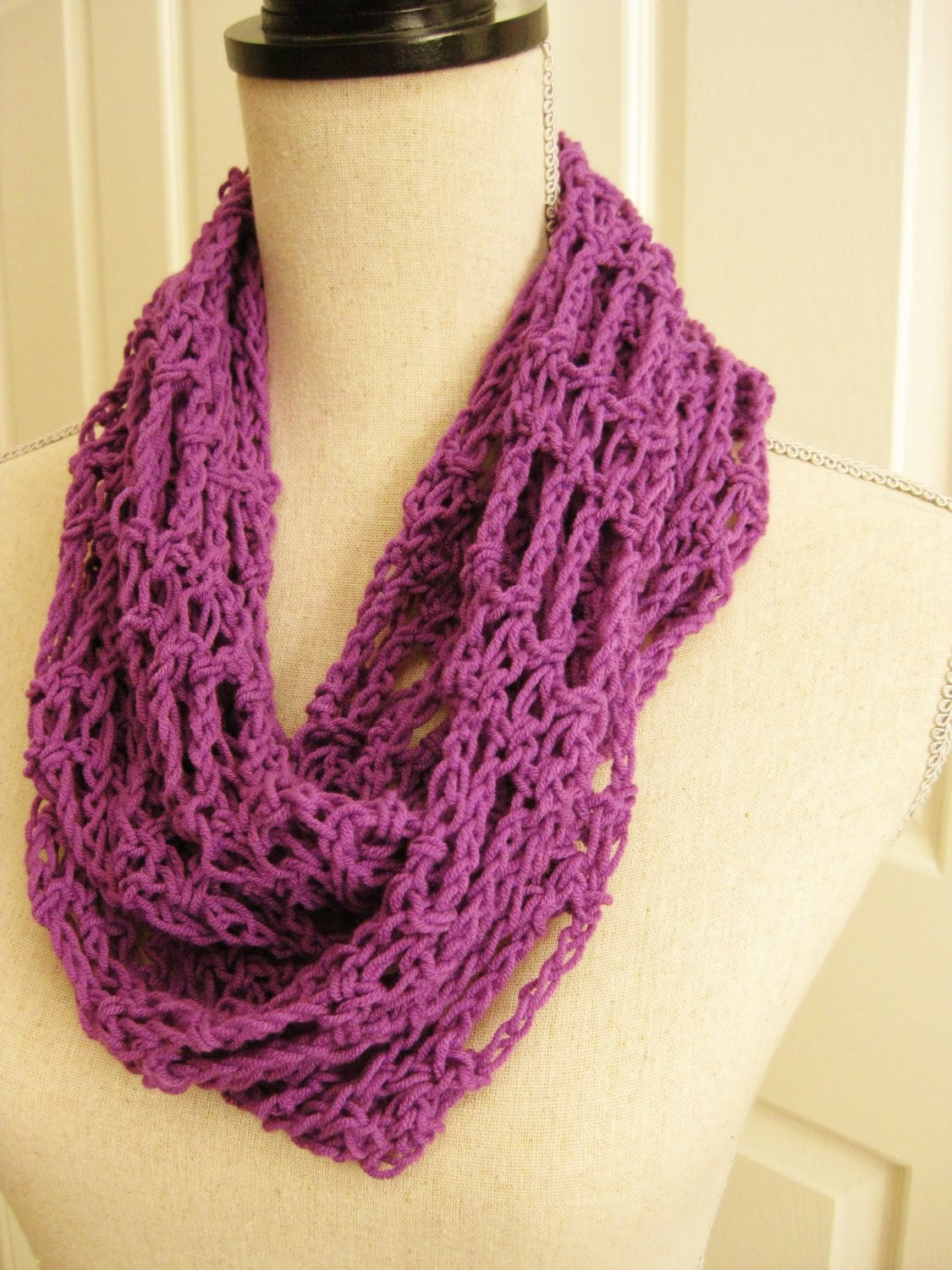 Lacy Crochet Scarf New Purple Lacy Scarf Crochet Cowl Lightweight Scarf Purple Of Perfect 44 Ideas Lacy Crochet Scarf