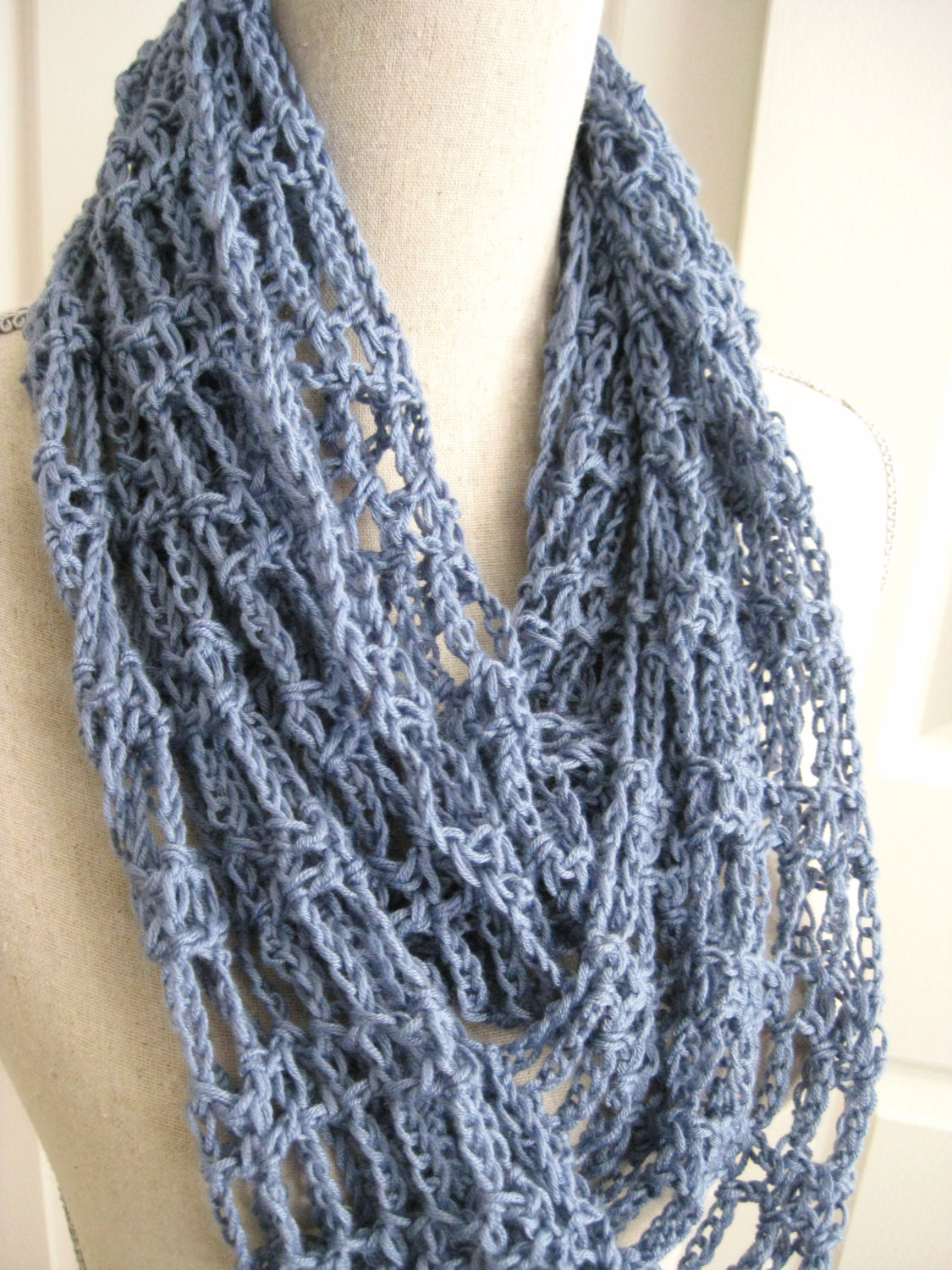Lacy Crochet Scarf Unique Cowl Scarf Crocheted Lacy Steel Blue Summer Cowl Spring Of Perfect 44 Ideas Lacy Crochet Scarf