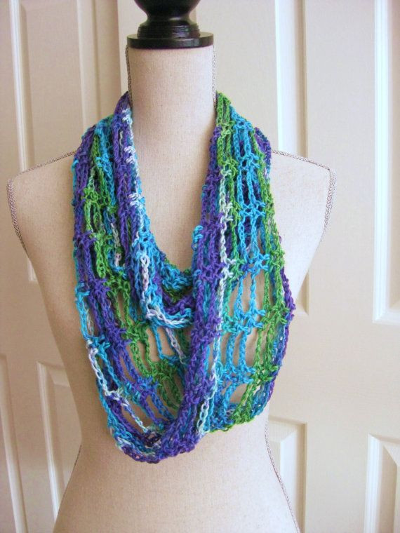 Lacy Crochet Scarf Unique Crochet Lacy Cowl Scarf Spring Green Turquoise Purple Of Perfect 44 Ideas Lacy Crochet Scarf