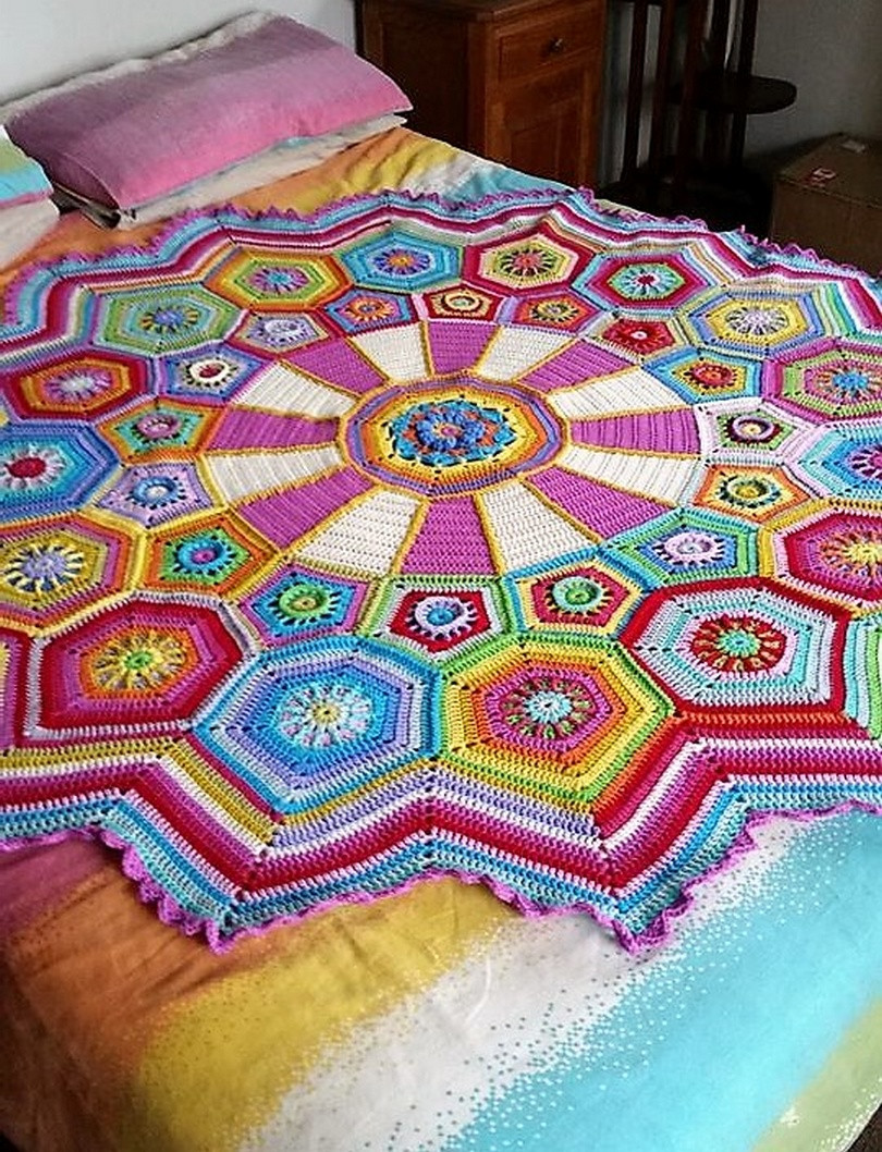 Large Crochet Blanket Best Of Enhance Your Bed Look with Crocheted Blankets Of Adorable 47 Pics Large Crochet Blanket