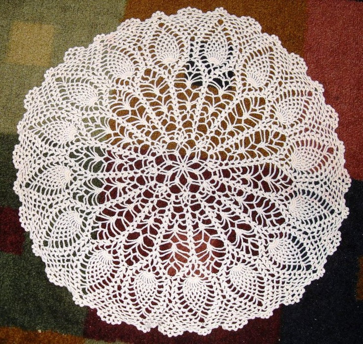Large Doilies Lovely Round Pineapple Crochet Doily Of Amazing 40 Ideas Large Doilies