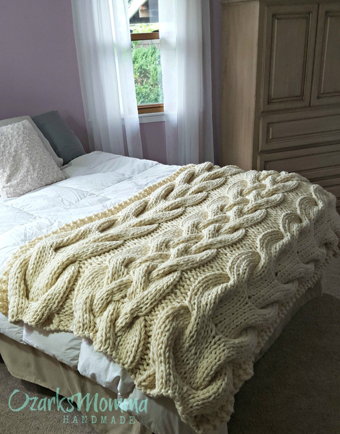 Large Knit Blanket Beautiful Chunky Oversized Cable Knit Blanket Made to order Of New 40 Images Large Knit Blanket