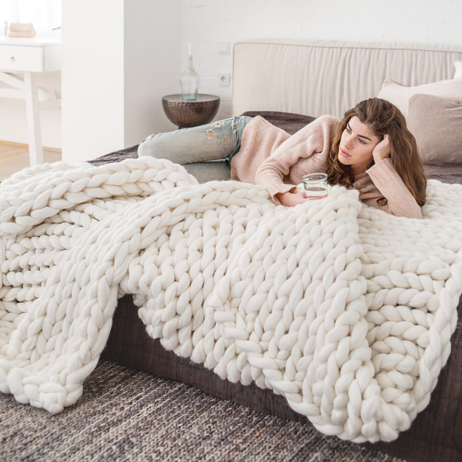 Large Knit Blanket Beautiful Extra Chunky Knitted Merino Blanket Premium Of New 40 Images Large Knit Blanket
