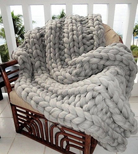 Large Knit Blanket Best Of Chunky Blanket Giant Knitting Hand Knit Throw Grey Of New 40 Images Large Knit Blanket
