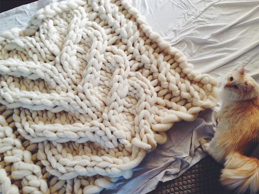 Large Knit Blanket Fresh No I'm Not Thumbelina I Just Knit with Giant Needles and Of New 40 Images Large Knit Blanket