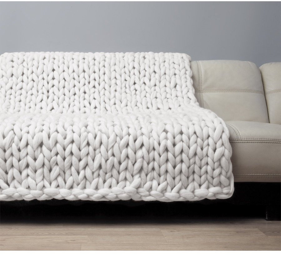 Large Knit Blanket Fresh Super Chunky Blanket Giant Knitted Merino Wool Throw Big Of New 40 Images Large Knit Blanket