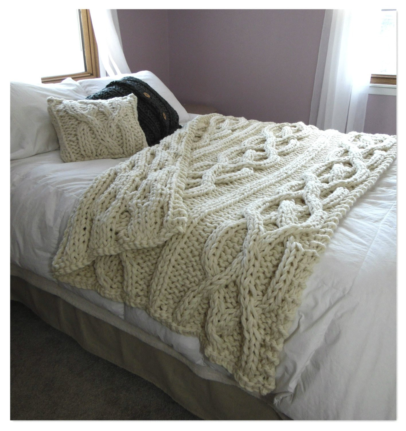 Large Knit Blanket Inspirational Luxury Oversized Cable Knit Blanket Made to order Of New 40 Images Large Knit Blanket