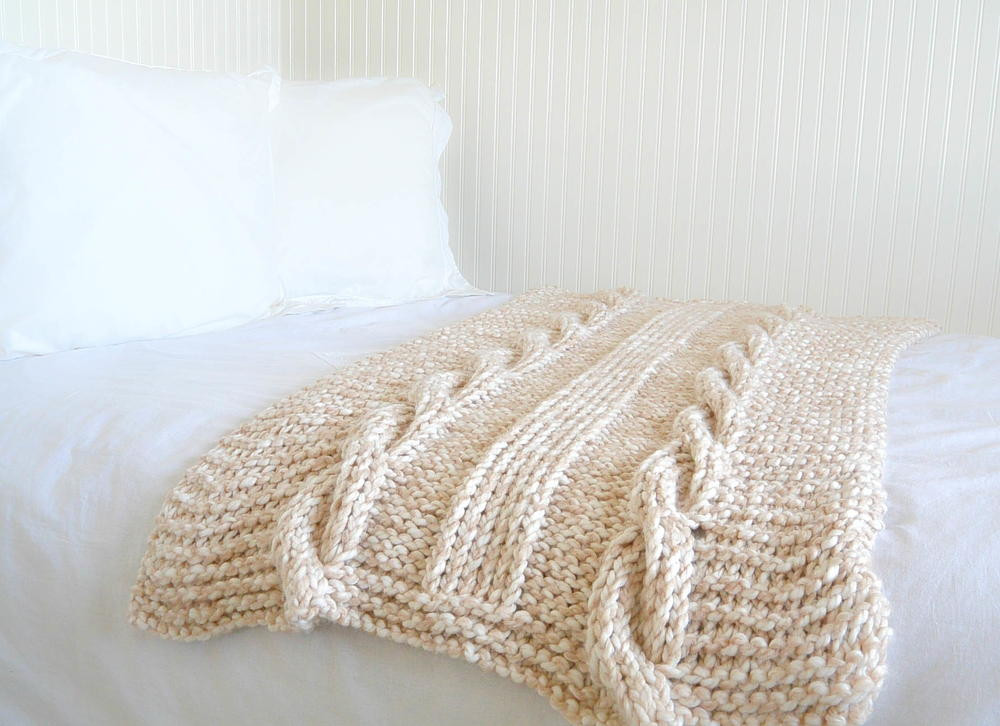 Large Knit Blanket Lovely Endless Cables Knit Throw Of New 40 Images Large Knit Blanket