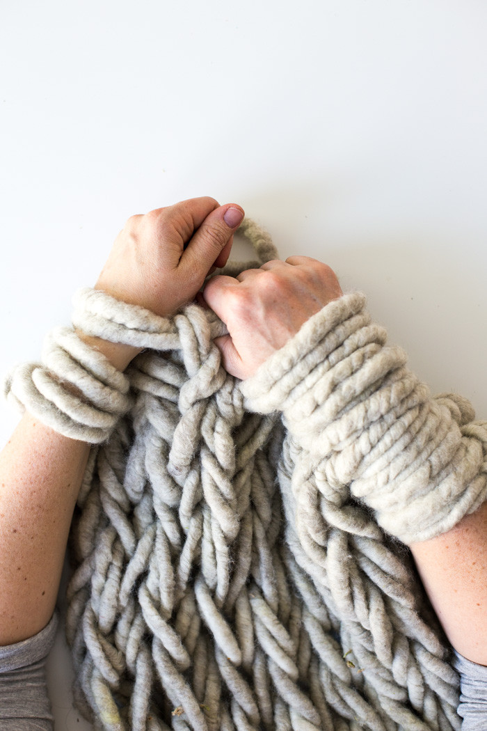 Large Knit Blanket Luxury Six Ways to Make Your Arm Knitting Tighter Flax & Twine Of New 40 Images Large Knit Blanket