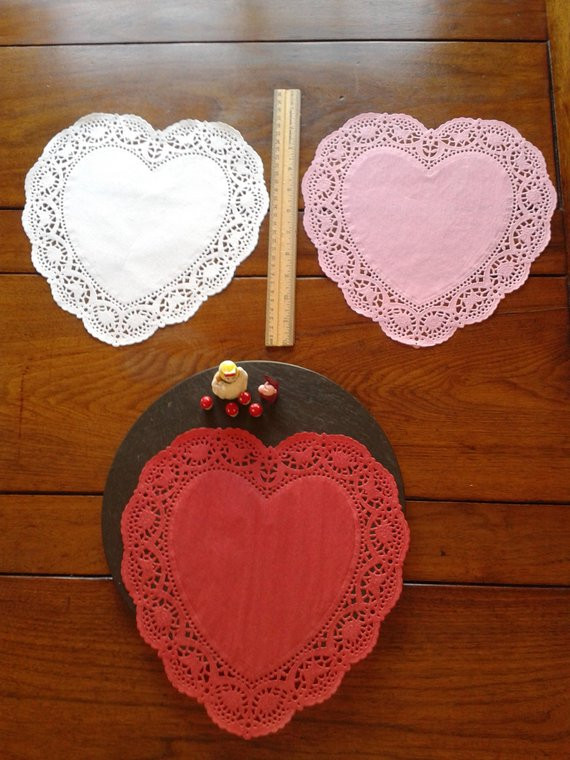 Large Paper Doilies New 12 Large 10 Red Heart Paper Lace Doilies by Of Luxury 44 Ideas Large Paper Doilies