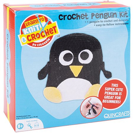 Learn to Crochet Kits Elegant Quincrafts Learn to Crochet Kit Penguin Walmart Of Amazing 49 Photos Learn to Crochet Kits