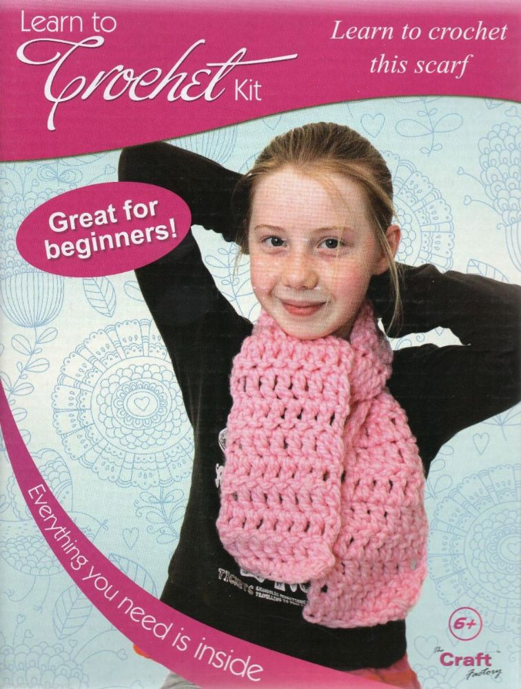 THE CRAFT FACTORY LEARN TO CROCHET KIT LEARN TO