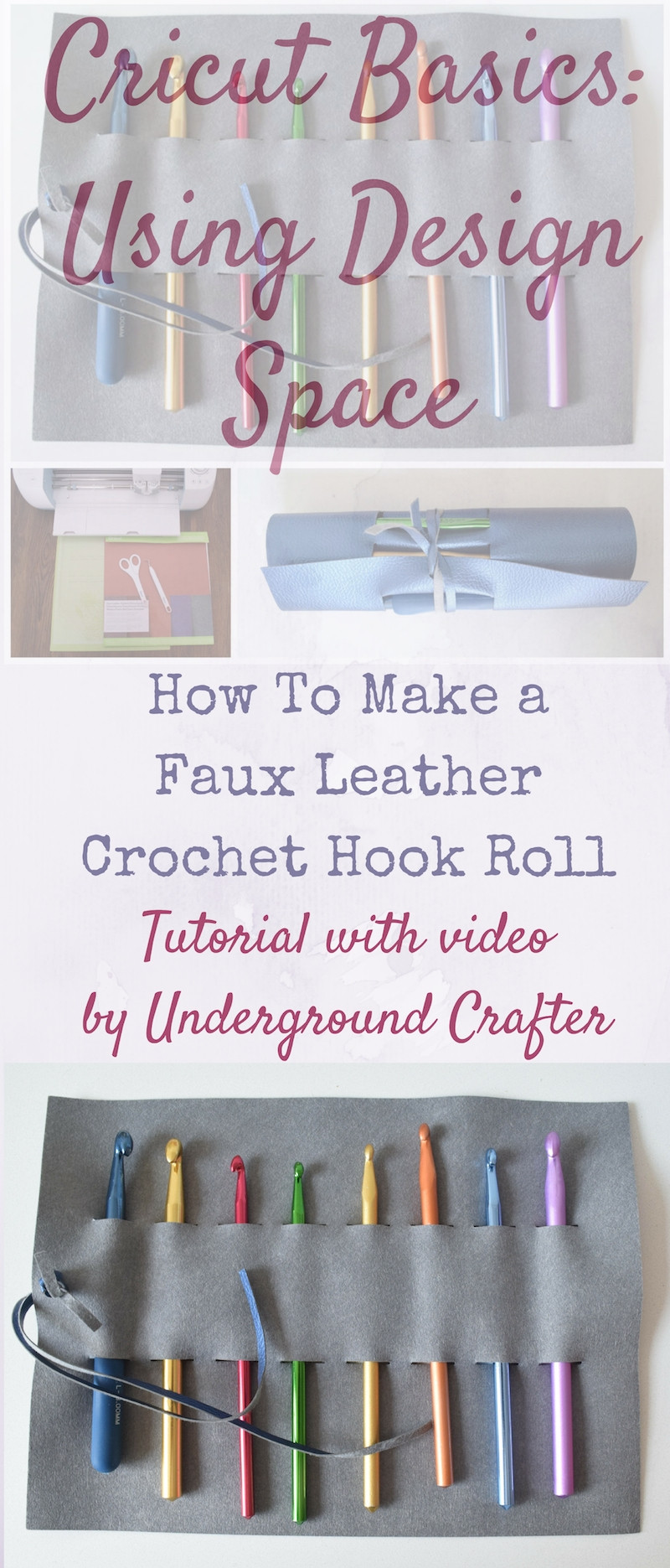 Learn to Crochet Kits Unique How to Make A Faux Leather Crochet Hook Roll with Cricut Of Amazing 49 Photos Learn to Crochet Kits