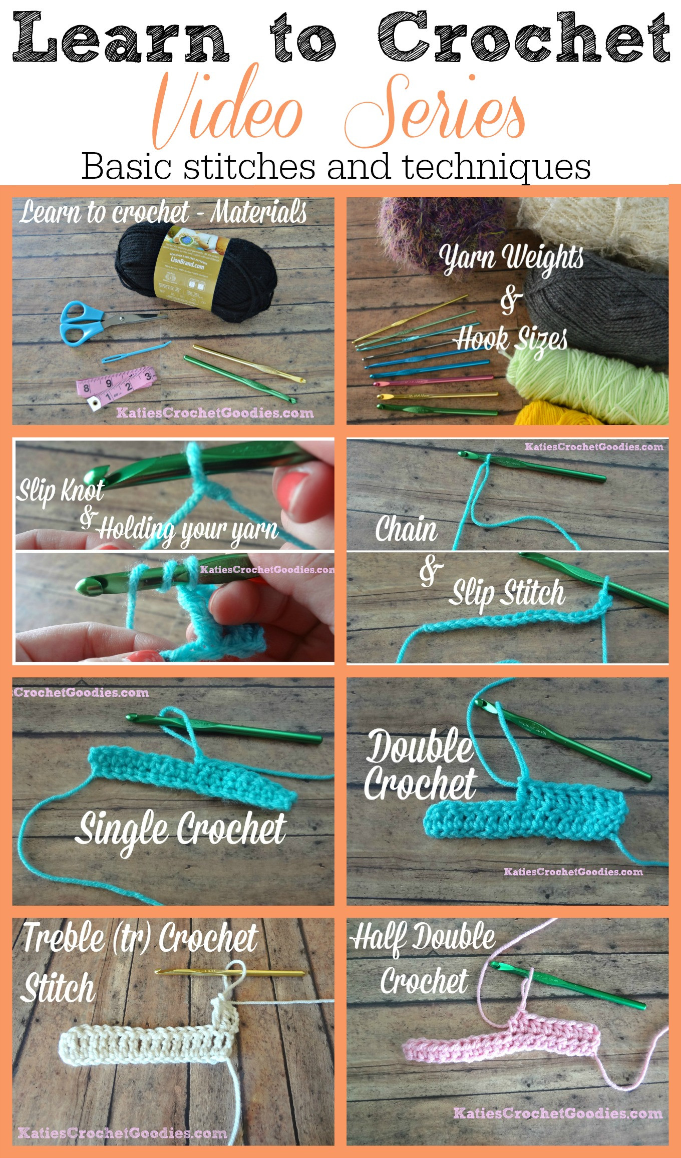 Learn to Crochet New Learn to Crochet Video Series Katie S Crochet Goo S Of Top 49 Pictures Learn to Crochet