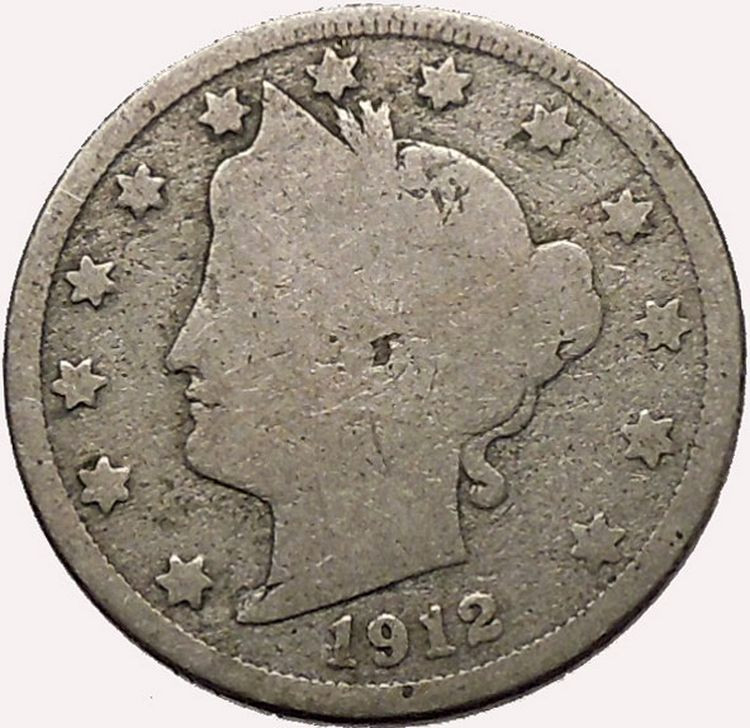 1912 LIBERTY HEAD NICKEL 5 Cent United States of America