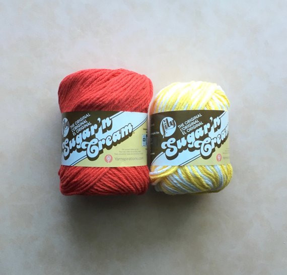 Lily Sugar and Cream Yarn Elegant Lily Sugar N Cream Cotton Yarn Lot Of 2 Red and Daisy Ombre Of Incredible 45 Images Lily Sugar and Cream Yarn