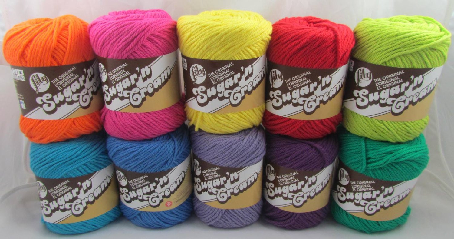 Lily Sugar N Cream Fresh Bright Colors Lily Sugar N Cream Cotton Yarn 10 Balls Of Top 41 Pictures Lily Sugar N Cream