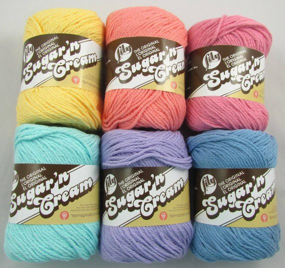 pastel lily sugarn cream cotton yarn