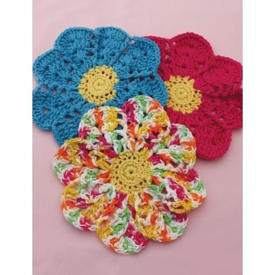Flower Dishcloth in Lily Sugar and Cream Solids