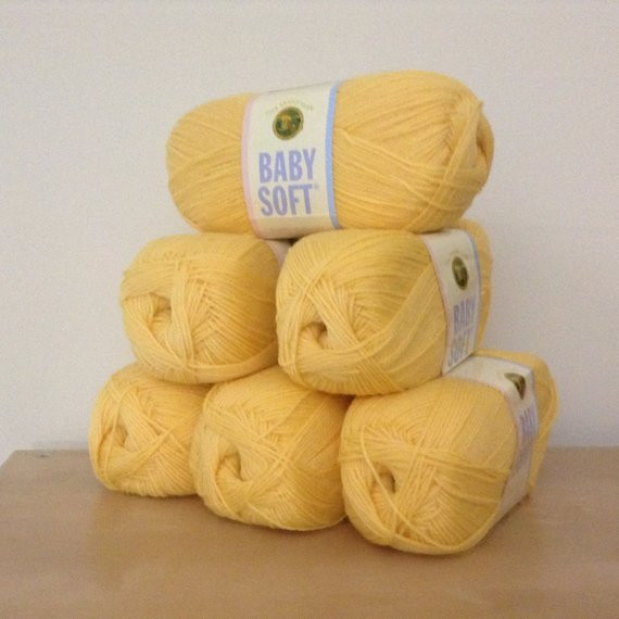 Lion Brand Baby soft Beautiful Lion Brand Baby soft Lemon Drop 159 by Malonsshop On Etsy Of Charming 44 Pictures Lion Brand Baby soft
