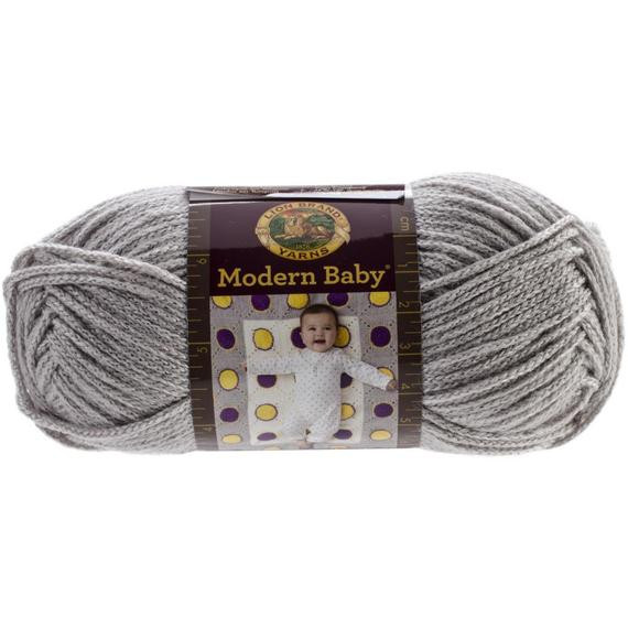 Lion Brand Modern Baby Grey Baby Yarn Super soft Yarn Grey