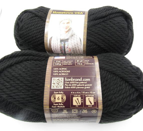 Lion Brand Bulky Yarn Elegant Lion Brand Hometown Usa Yarn Super Bulky 6 Oakland Black Of Contemporary 41 Pictures Lion Brand Bulky Yarn