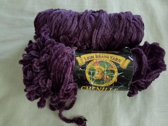 lion brand chenille thick quick yarn