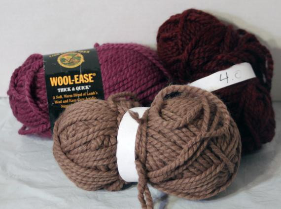 Lion Brand Wool ease Chunky bulky Think and Quick lot of 3