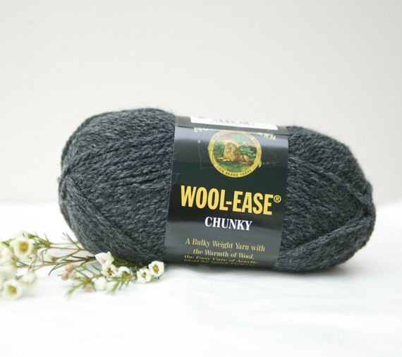 Lion Brand Chunky Yarn Inspirational Items Similar to Lion Brand Wool Ease Chunky In Charcoal Of Luxury 46 Pictures Lion Brand Chunky Yarn
