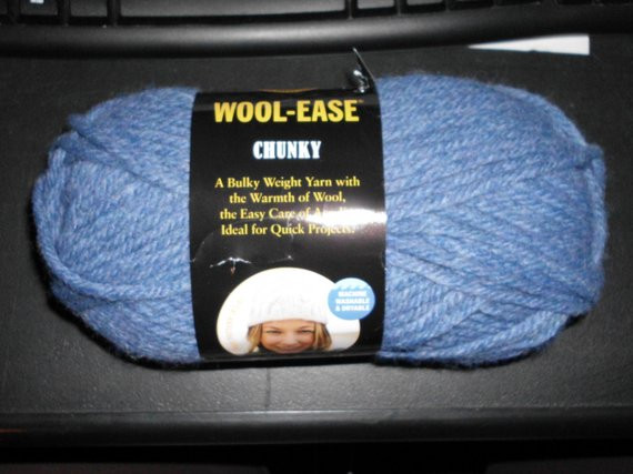 Lion Brand Wool Ease Chunky Yarn Color Bluebell
