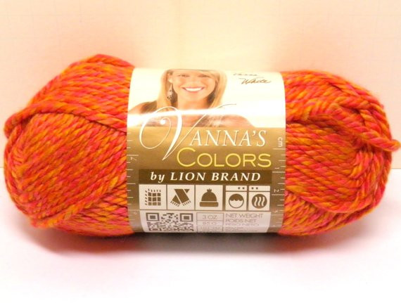 Lion Brand Discount Yarn New Lion Brand Vanna S Colors Sunset Coral orange Red Yarn Of Contemporary 48 Pictures Lion Brand Discount Yarn