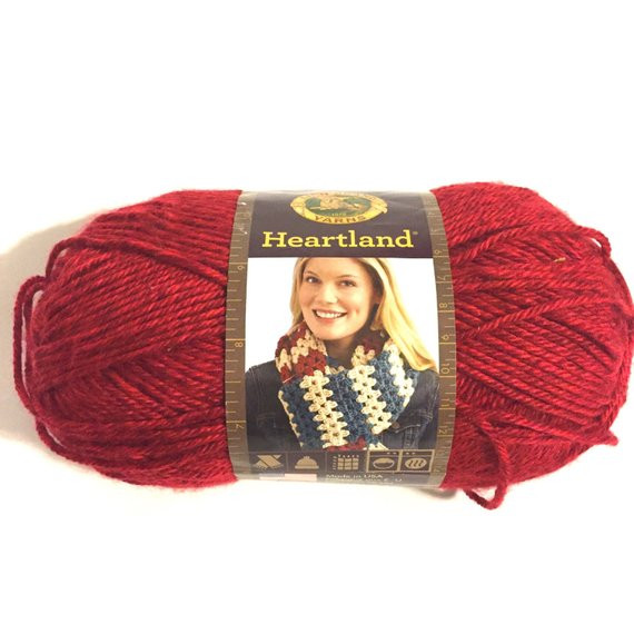 Lion Brand Heartland New Lion Brand Heartland Red Medium Weight soft Yarn with Sheen Of Wonderful 40 Pics Lion Brand Heartland