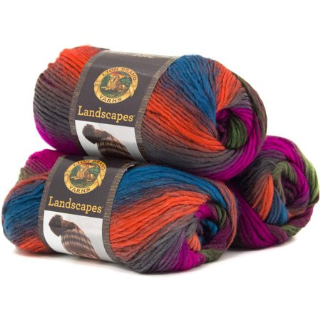 Lion Brand Landscapes Yarn Lovely Lion Brand Yarn Landscapes 3 Pack 100 Percent Acrylic Of Luxury 43 Images Lion Brand Landscapes Yarn