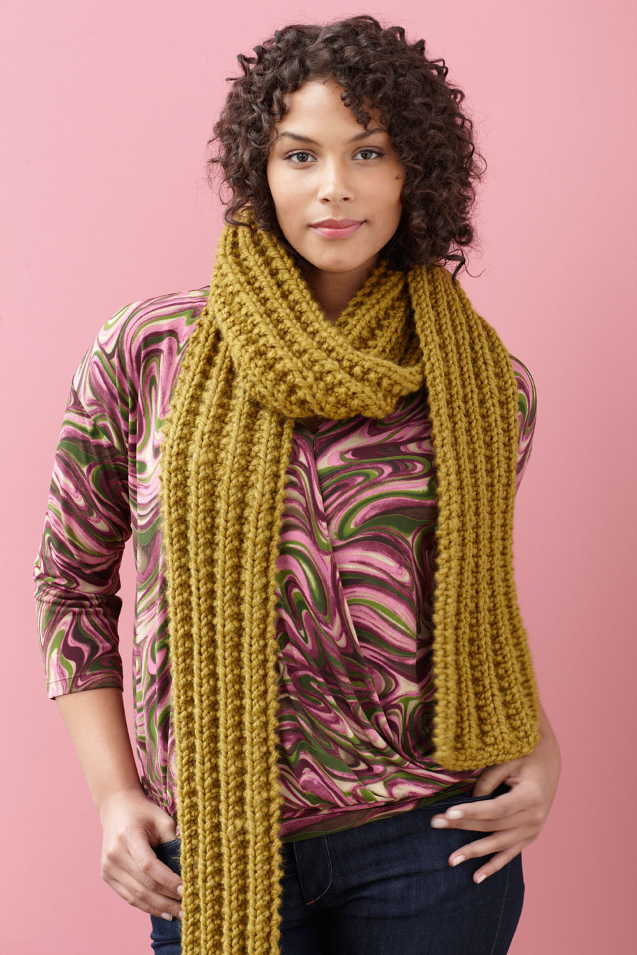 Brisbane Scarf in Lion Brand Wool Ease Thick & Quick