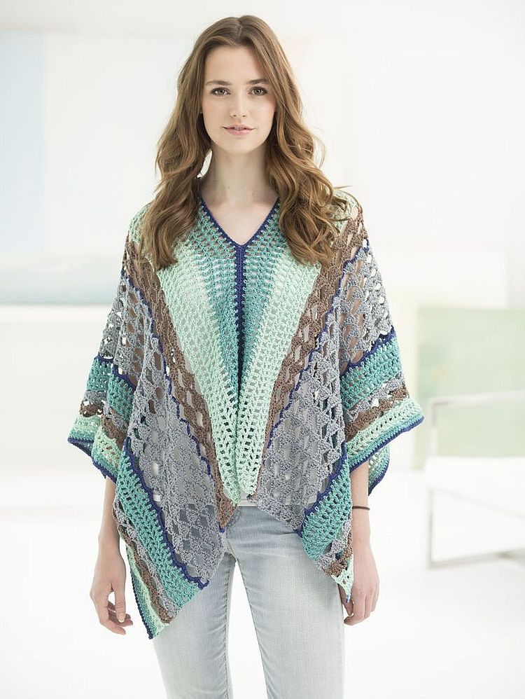 Lion Brand Patterns Elegant Flatter Your Figure with these Free Crochet Poncho Of Perfect 48 Pictures Lion Brand Patterns