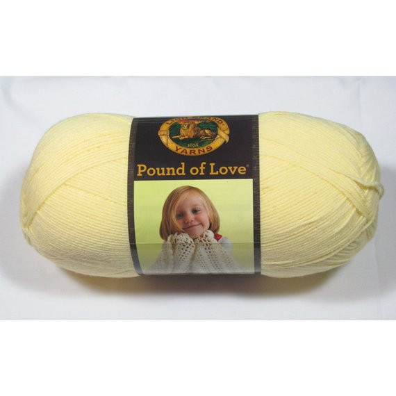 Lion Brand Pound Of Love Luxury Lion Brand Pound Of Love Yarn Pastel Yellow 16 Oz Of Top 40 Models Lion Brand Pound Of Love