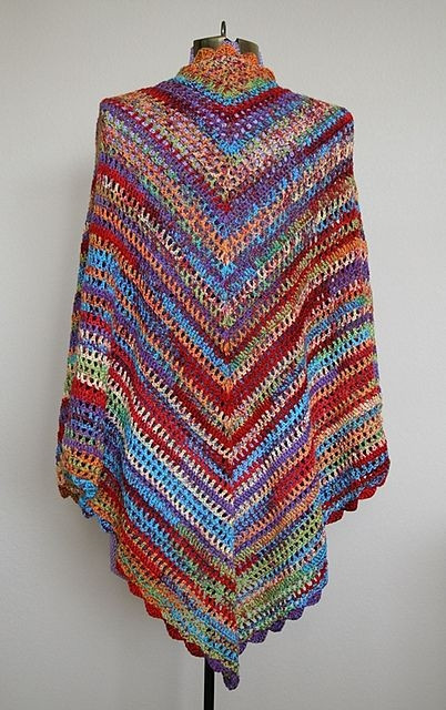 ravelry country cotton shawl free crochet patter