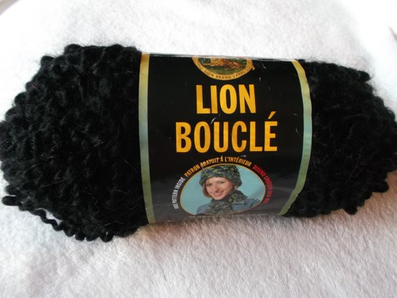 DESTASH Lion Brand Boucle Discontinued Yarn Espresso Never