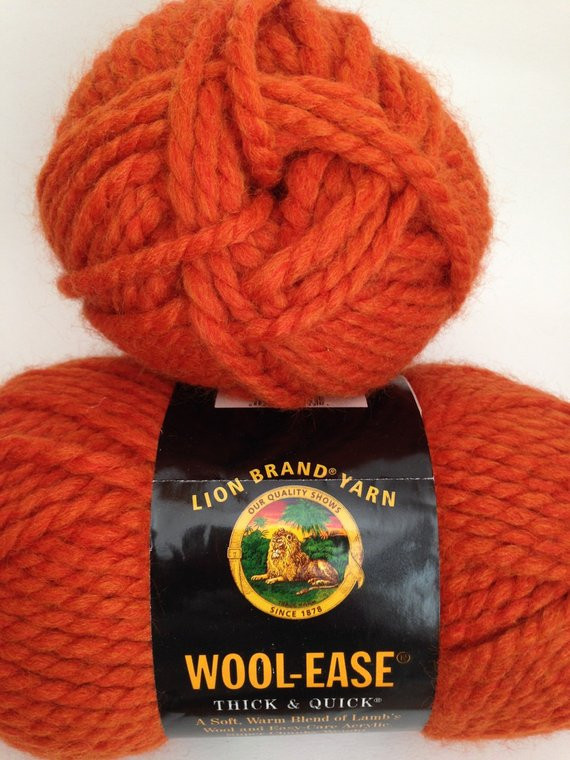 Lion Brand Super Bulky Yarn Best Of Lion Brand Wool Ease Thick & Quick Yarn Color Pumpkin 133 Of Brilliant 50 Pictures Lion Brand Super Bulky Yarn