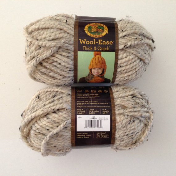 Lion Brand Super Bulky Yarn Fresh Lion Brand Wool Ease Thick and Quick Oatmeal Super Bulky Yarn Of Brilliant 50 Pictures Lion Brand Super Bulky Yarn