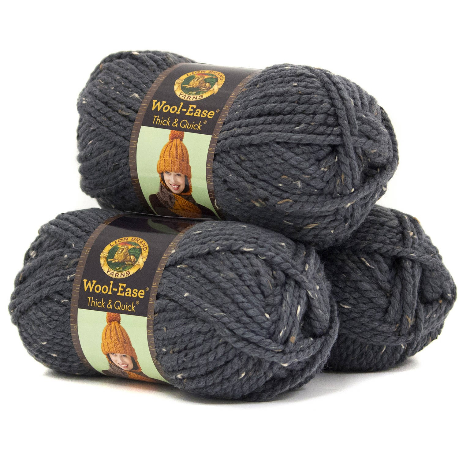 Lion Brand Wool Ease Thick and Quick Yarn Wool Acrylic